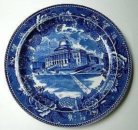 Wedgwood BOSTON STATE HOUSE blue transfer