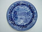 Wedgwood HOOSAC TUNNEL blue transfer ware plate
