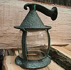 patinated bronze Arts & Crafts outdoor wall lamp