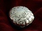 Silver Seashell Snuff Box