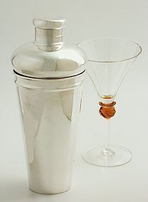 Tiffany Art Deco Cocktail Shaker