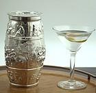 Figural Whiskey Barrel Cocktail Shaker