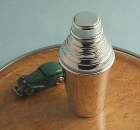 British Art Deco Cocktail Shaker
