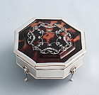 Pique Silver and Tortoise Jewel Box