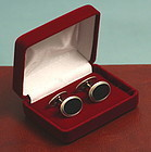 Art Deco Silver and Black Onyx Cufflinks