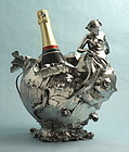 WMF Fine Art Nouveau Figural Mermaid Wine Cooler