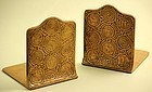Tiffany Studios Bronze Zodiac Bookends