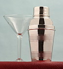 Engine Turned Cocktail Shaker for One