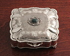 Fine Silver and Bloodstone Italian Box
