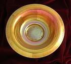 Steuben Gold Aurene on Calcite Bowl