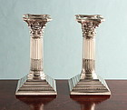Antique Corinthian Column Candlesticks