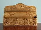 Tiffany Studios Bronze Zodiac Letter Paper Rack