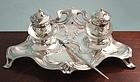 Art Nouveau Silver Double Inkstand