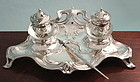 Silver Art Nouveau Inkstand