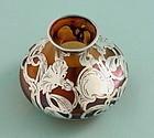 Loetz Silver Overlay Vase