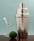 Art Deco Hammered Cocktail Shaker