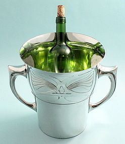 Art Nouveau Pewter Wine Cooler