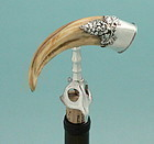 Boar Tusk and Silver Grapes Corkscrew