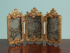 French Gilded Triple Photo Frame
