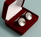Modernist Hammered Silver Cufflinks