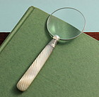 Mother-of-Pearl and Silver Magnifier