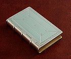 Antique Silver Book Snuff Box
