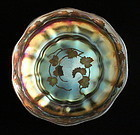 L.C. Tiffany Favrile Intaglio Cut Glass Bowl