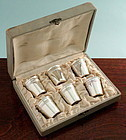 Set of French Silver Shot Cups