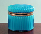 Blue Opaline Glass Box