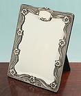 Art Nouveau Silver Mirror