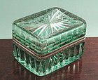 Fine Bohemian Cut Crystal Box