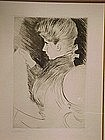 Paul Cesar Helleu Etching, Alice Helleu