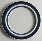 6 Blue Anemone Dinner Plates Arabia of Finland