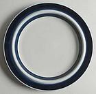 6 Blue Anemone Dinner Plates Arabia of Finland