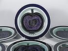 6 Blue Arabia of Finland Fructus Dessert Salad Plates