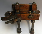 Rare A. Howland Rosewood Carpenter's Plow Plane, 19C