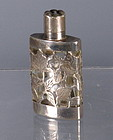 Sterling Silver Overlay Pefume Bottle Mexico