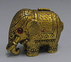 RARE Max Factor Solid Perfume Elephant Compact