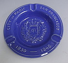 Metlox Paris -  San Francisco Blue Souvenir Ashtray