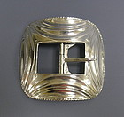 Large Mid Century Sterling Silver Belt Buckle