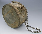 Confederate Civil War Wooden Water Canteen
