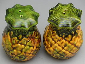 Metlox Pottery Pineapple Salt Pepper Shakers