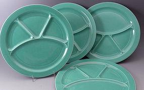 California Vernon KilnsTurquoise Grill Plate