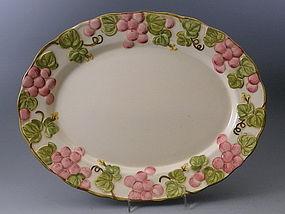 Metlox Vernon Rose Vintage Pink Oval Serving Platter