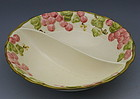 Metlox Rose Vintage Pink Divided Vegetable Bowl