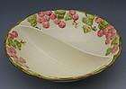 Metlox Rose Vintage Pink Divided Vegetable Bowl
