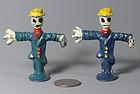 Miniature Cast  Metal Lead Scarecrow Figurine Figure