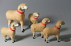 Miniature PUTZ German Wool Paper Mache Sheep