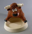 RARE California Metlox Artware Bull Animal Keeper