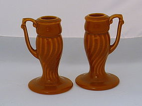 California Metlox Yorkshire Candle Stick Holder, Pair